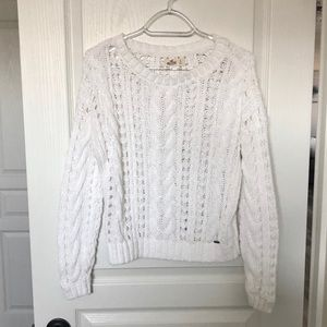 White Hollister Knit Sweater